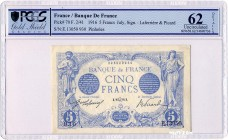 France [#70, UNC] 5 francs Type 1905 Bleu
