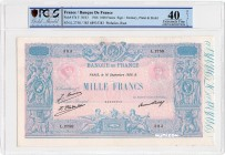 France [#67, XF] 1000 francs Type 1889 Bleu et rose