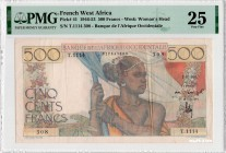 French West Africa [#41, VF] 500 francs Type 1946
