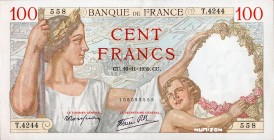 France [#94, GEM] 100 francs Type 1939 Sully
