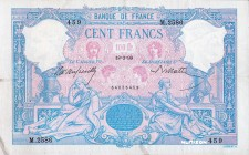 France [#65, VF+] 100 francs Type 1888 Bleu et rose