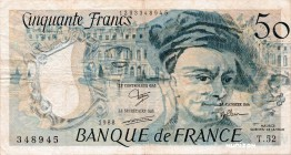 France [#152, F] 50 Francs Type 1976 Quentin de La Tour
