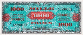 France [#125, XF+] 1000 francs Verso France Type 1945