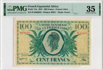 French Equatorial Africa [#13, VF+] 100 francs Type 1941 CCFL