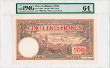 Morocco [#15, GEM] 500 francs Type 1923