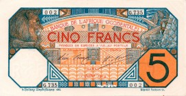 French West Africa [#5B, GEM] 5 francs Dakar Type 1916