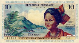 French Antilles [#8, AU] 10 francs Type 1964