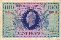 France [#105, VF] 100 francs Marianne Type 1943