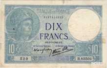 France [#73, VF] 10 francs Type 1915 Minerve