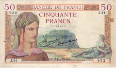 France [#81, F+] 50 francs Type 1933 Cérès