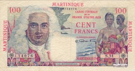 Martinique [#31, VF] 100 francs La Bourdonnais Type 1946