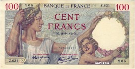 France [#94, AU] 100 francs Type 1939 Sully