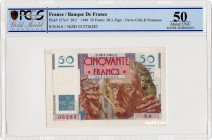 France [#127, AU] 50 francs Type 1946 Le Verrier