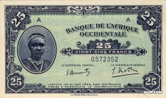 French West Africa [#30, UNC] 25 francs Type 1942