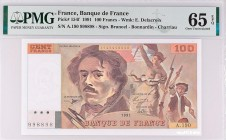 France [#153, GEM] 100 francs Type 1978 Delacroix