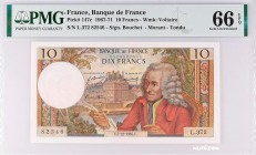 France [#147, GEM] 10 francs Type 1963 Voltaire