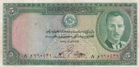 Afghanistan, 5 Afghanis, 1939, XF, p22
