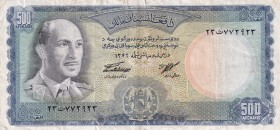 Afghanistan, 500 Afghanis, 1967, XF, p45a