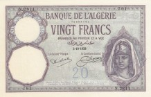Algeria, 20 Francs, 1928, UNC(-), p78b