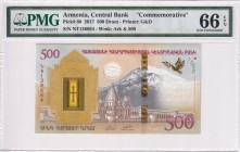 Armenia, 500 Dram, 2017, UNC, p60