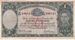 Australia, 1 Pound, 1942, XF, p26b