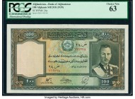 Afghanistan Bank of Afghanistan 100 Afghanis ND (1939) / SH1318 Pick 26a PCGS Choice New 63.   HID09801242017  © 2020 Heritage Auctions | All Rights R...