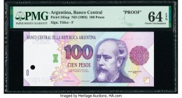 Argentina Banco Central 100 Pesos ND (1992) Pick 345ap Proof PMG Choice Uncirculated 64 EPQ. One POC and as made ink are noted.  HID09801242017  © 202...