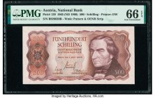 Austria Austrian National Bank 500 Schilling 1965 (ND 1966) Pick 139 PMG Gem Uncirculated 66 EPQ.   HID09801242017  © 2020 Heritage Auctions | All Rig...