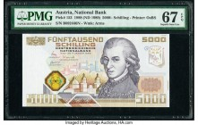 Austria Austrian National Bank 5000 Schilling 1988 (ND 1989) Pick 153 PMG Superb Gem Unc 67 EPQ.   HID09801242017  © 2020 Heritage Auctions | All Righ...
