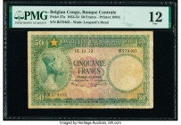 Belgian Congo Banque Centrale du Congo Belge 50 Francs 15.11.1953 Pick 27a PMG Fine 12.   HID09801242017  © 2020 Heritage Auctions | All Rights Reserv...