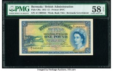 Bermuda Bermuda Government 1 Pound 20.10.1952 Pick 20a PMG Choice About Unc 58 EPQ.   HID09801242017  © 2020 Heritage Auctions | All Rights Reserved
