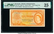 Bermuda Bermuda Government 5 Pounds 1.10.1966 Pick 21d PMG Very Fine 25.   HID09801242017  © 2020 Heritage Auctions | All Rights Reserved