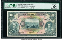 Bolivia Banco Central 100 Bolivianos 1928 Pick 125a PMG Choice About Unc 58 EPQ.   HID09801242017  © 2020 Heritage Auctions | All Rights Reserved