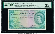 British Caribbean Territories Currency Board 5 Dollars 2.1.1957 Pick 9b PMG Choice Very Fine 35. Minor stains.  HID09801242017  © 2020 Heritage Auctio...