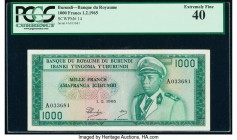 Burundi Banque du Royaume du Burundi 1000 Francs 1.2.1965 Pick 14 PCGS Extremely Fine 40.   HID09801242017  © 2020 Heritage Auctions | All Rights Rese...