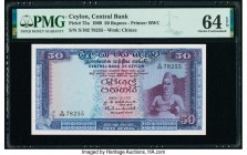 Ceylon Central Bank of Ceylon 50 Rupees 10.20.1969 Pick 75a PMG Choice Uncirculated 64 EPQ.   HID09801242017  © 2020 Heritage Auctions | All Rights Re...