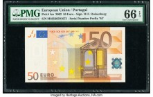 European Union Central Bank, Portugal 50 Euro 2002 Pick 4m PMG Gem Uncirculated 66 EPQ.   HID09801242017  © 2020 Heritage Auctions | All Rights Reserv...