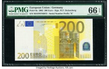 European Union Central Bank, Germany 200 Euro 2002 Pick 6x PMG Gem Uncirculated 66 EPQ.   HID09801242017  © 2020 Heritage Auctions | All Rights Reserv...