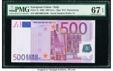 European Union Central Bank, Italy 500 Euro 2002 Pick 7s PMG Superb Gem Unc 67 EPQ.   HID09801242017  © 2020 Heritage Auctions | All Rights Reserved