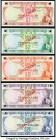 Fiji 1974 Specimen Set of 5 Examples Crisp Uncirculated. Barnes and Tomkins signature combination set. Pick numbers 71s, 72s, 73s, 74s and 75s. POCs p...