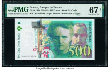 France Banque de France 500 Francs 1994 Pick 160a PMG Superb Gem Unc 67 EPQ.   HID09801242017  © 2020 Heritage Auctions | All Rights Reserved