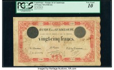 Guadeloupe Banque de la Guadeloupe 25 Francs ND (1920-44) Pick 8 PCGS Very Good 10. Pinholes and minor paper thins.   HID09801242017  © 2020 Heritage ...