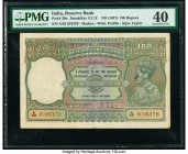 India Reserve Bank of India 100 Rupees ND (1937) Pick 20n Jhun4.7.1F PMG Extremely Fine 40. Spindle holes, stains and stamp ink.   HID09801242017  © 2...