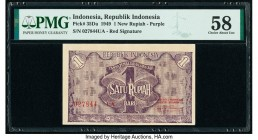 Indonesia Republik Indonesia 1 New Rupiah 1949 Pick 35Da PMG Choice About Uncirculated 58.   HID09801242017  © 2020 Heritage Auctions | All Rights Res...