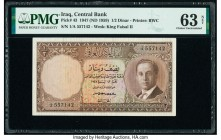 Iraq Central Bank of Iraq 1/2 Dinar 1947 (ND 1959) Pick 43 PMG Choice Uncirculated 63 Net. Previously mounted.  HID09801242017  © 2020 Heritage Auctio...