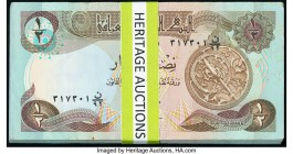 Iraq Central Bank of Iraq 1/2 Dinar 1980-85 / AH1400-05 Pick 68a Pack of 100 About Uncirculated-Uncirculated. Edge bends may be present on the outer n...