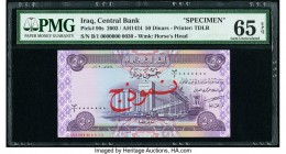 Iraq Central Bank of Iraq 50 Dinars 2003 / AH1424 Pick 90s Specimen PMG Gem Uncirculated 65 EPQ.   HID09801242017  © 2020 Heritage Auctions | All Righ...