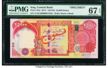 Iraq Central Bank of Iraq 25,000 Dinars 2013 / AH1435 Pick 102s Specimen PMG Superb Gem Unc 67 EPQ.   HID09801242017  © 2020 Heritage Auctions | All R...
