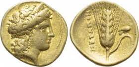 LUCANIA. Metapont. Tetrobol or Third Stater (Circa 334-331/0 BC). Achaian standard. 