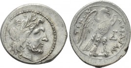 SICILY. Akragas. Drachm or Half-Shekel. Punic occupation (Circa 214-210 BC). 